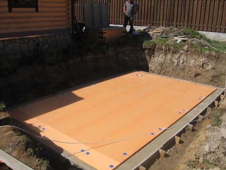 Как сделать подушку под бассейн
